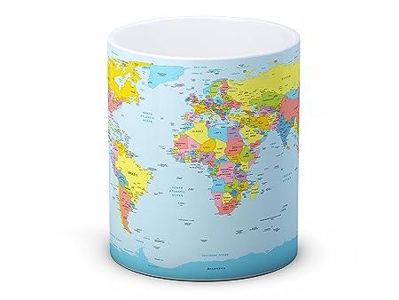 World map political high quality coffee tea mug amazon world map political high quality coffee tea mug gumiabroncs Image collections