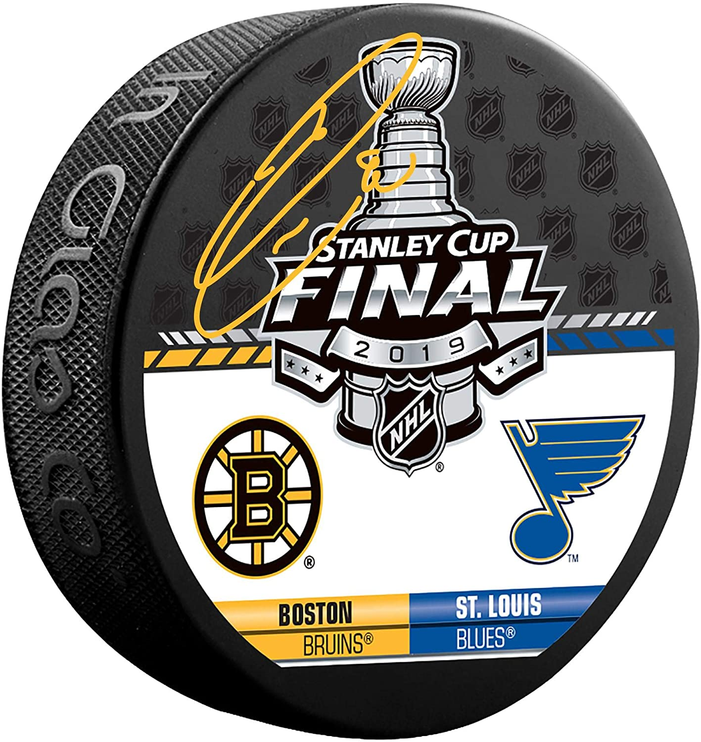 Louis Blues Autographed 2019 Stanley Cup Final Dueling Match-Up Logo Hockey Puck Ryan OReilly St Fanatics Authentic Certified