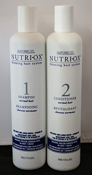 Amazon.com : Nutri-Ox Shampoo & Conditioner for Thinning Hair (12 oz each) - Makes Hair Appear Thicker : Beauty