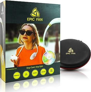 Epic Fan – Portable Fan, Hands Free Personal Fan, Neck Fan with Aromatherapy + LED Light + 3 Wind Speeds, Lithium Battery Operated Fan, Rechargeable ...