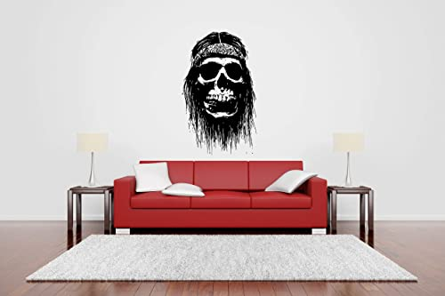 Halloween Skull Skeleton Horror Scary Vinyl Wall Sticker Decal Bedroom Pattern
