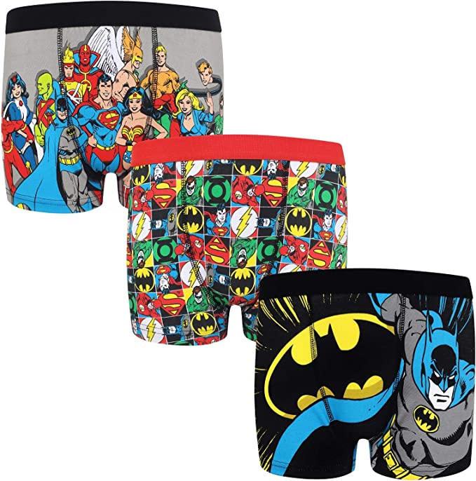 DC Comics - Pack de 3 calzoncillos oficiales de estilo bóxer ...
