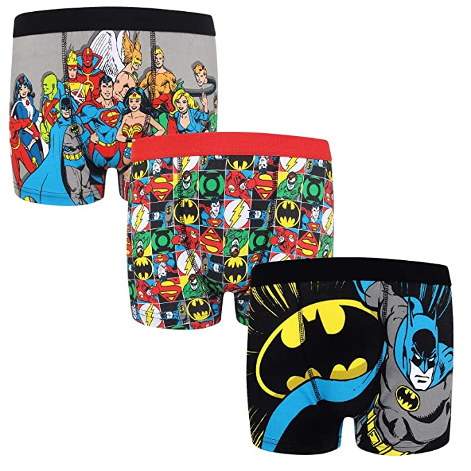 DC Comics - Pack de 3 calzoncillos oficiales de estilo bóxer - Para niños - Batman