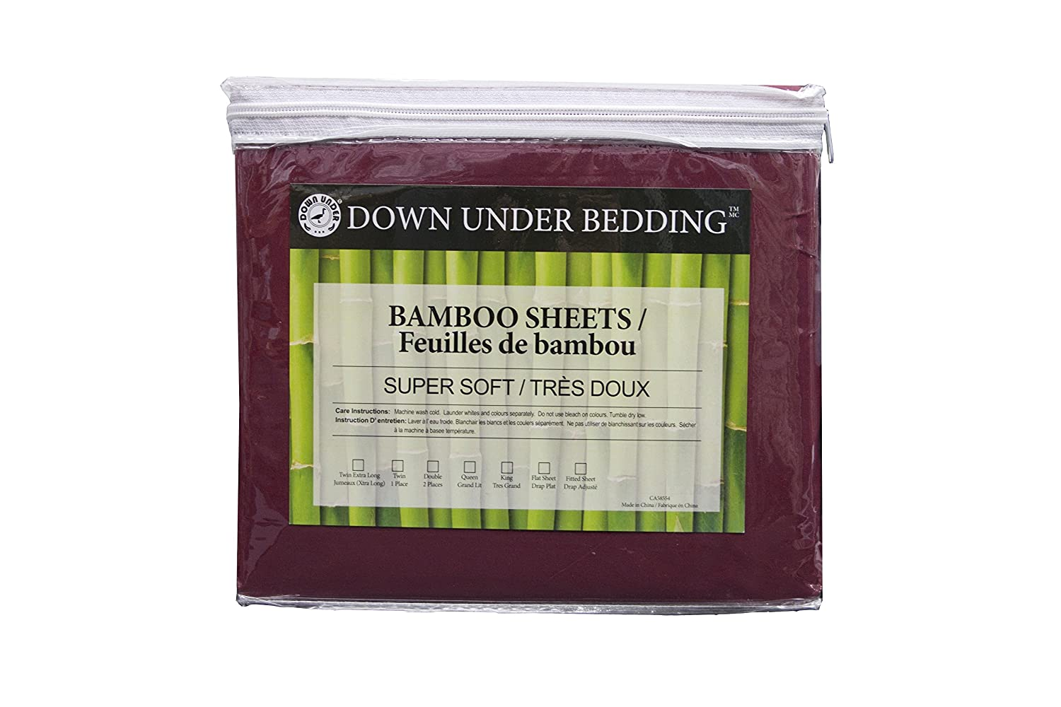 Down Under 13 Deep Natural Bamboo Fitted Sheet (King, Black)