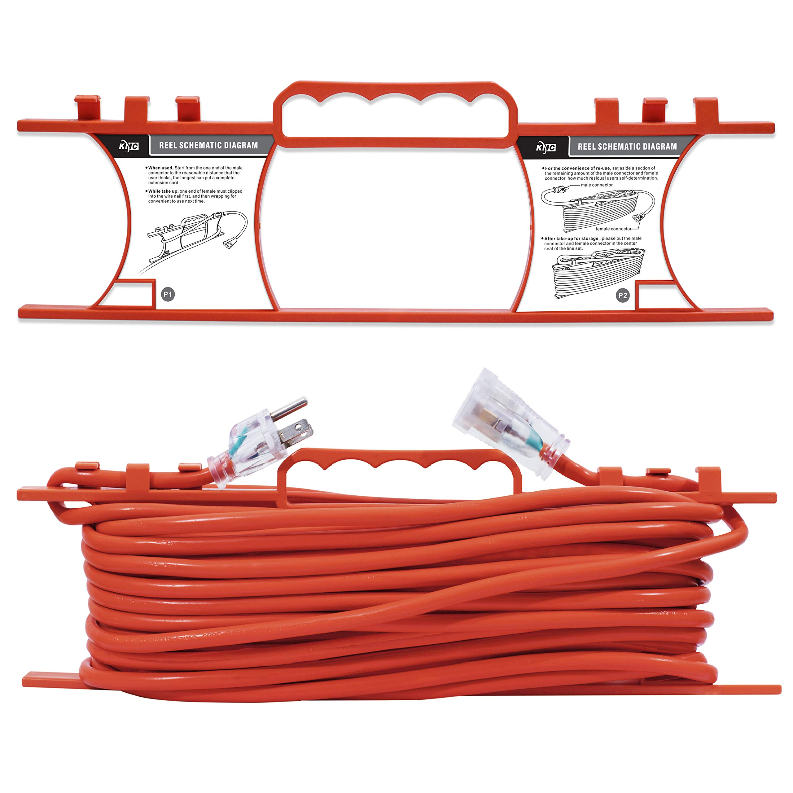 Details about KMC 16 AWG Power Outdoor Extension Cord with Winding on