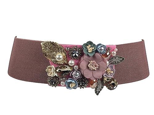 Markenlos - Cinturón - para mujer rosa altrosa Talla única
