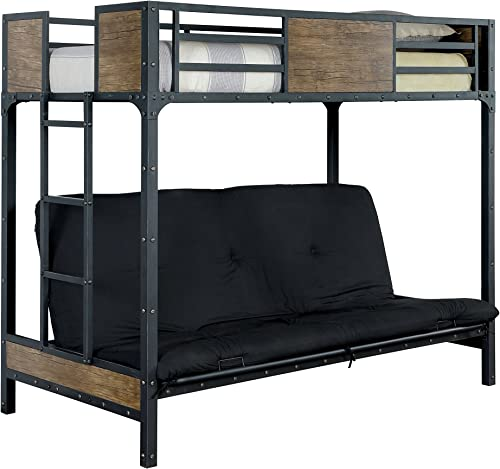 HOMES Inside Out ioHOMES Megyver Two Over Level Industrial Twin Bunk Bed