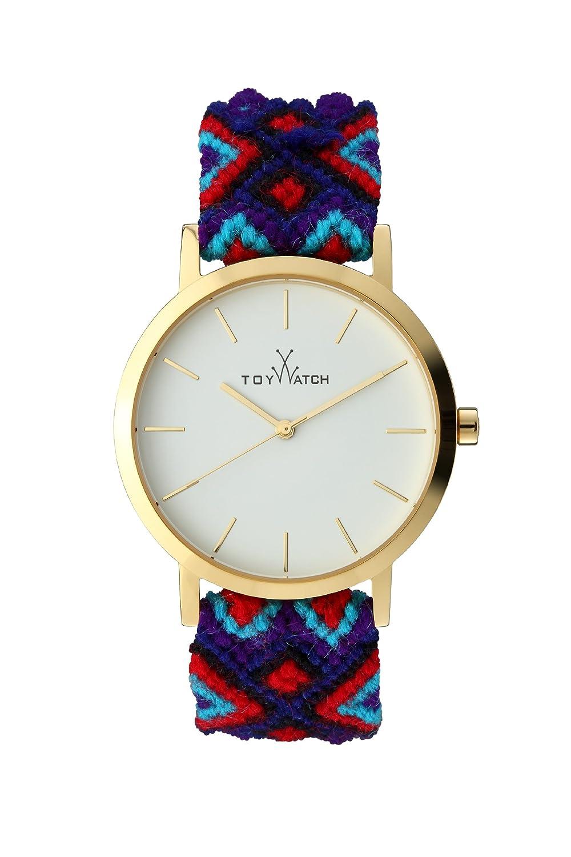 Maya Toywatch Women's Quarz-Uhr mit weißem Zifferblatt Analog-Anzeige und blauem Band MYW07GD - 0.94.0061