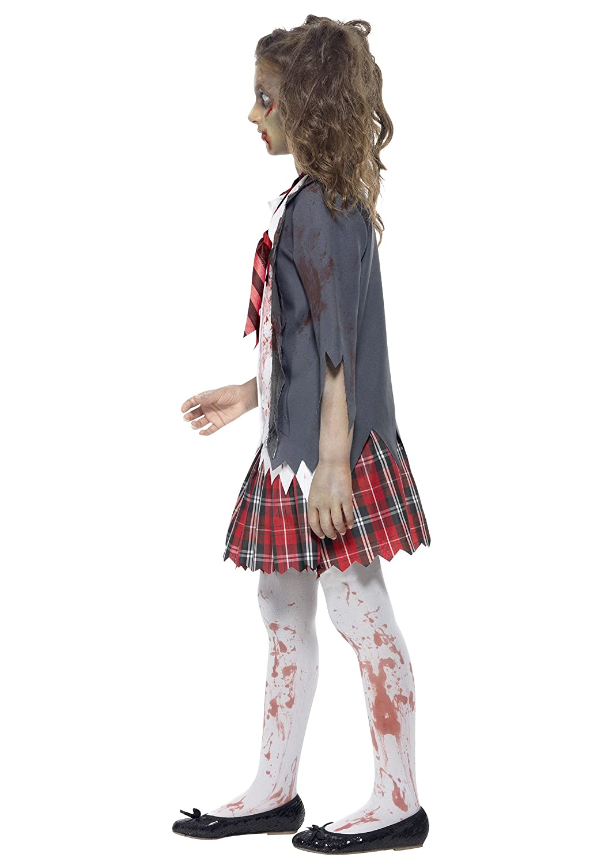 Smiffys Kids Zombie School Girl Fancy Dress Costume X-Small