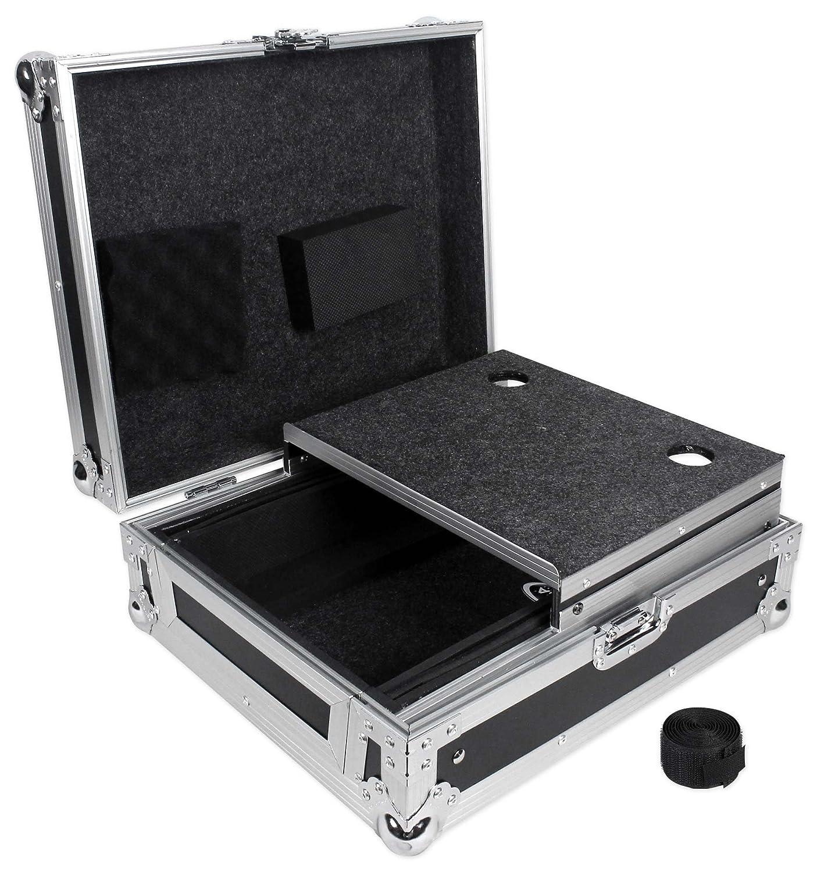 Odyssey FZGS12MX1 Low Profile Glide Style Case For 12 DJ Mixer + Laptop Shelf