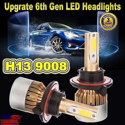 Amazon Com H13 9008 Led Headlight Bulbs Replacement Kit