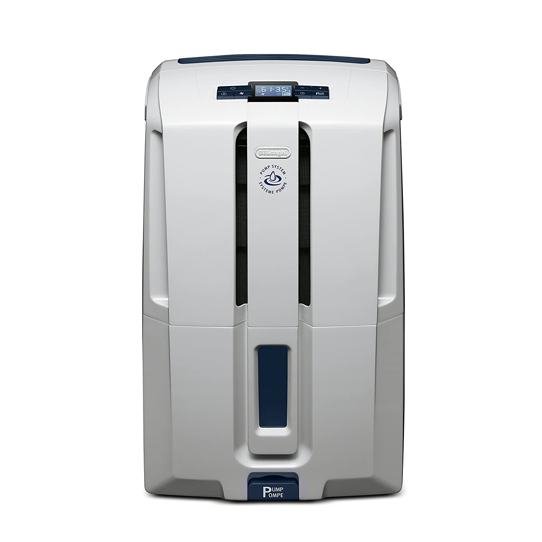 DeLonghi Energy Star 45 Pint Dehumidifier White