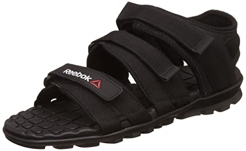 e05b4cc9383cfb Reebok Men s Chrome Flex 2.0 Black Sandals - 11 UK India (45.5 EU ...