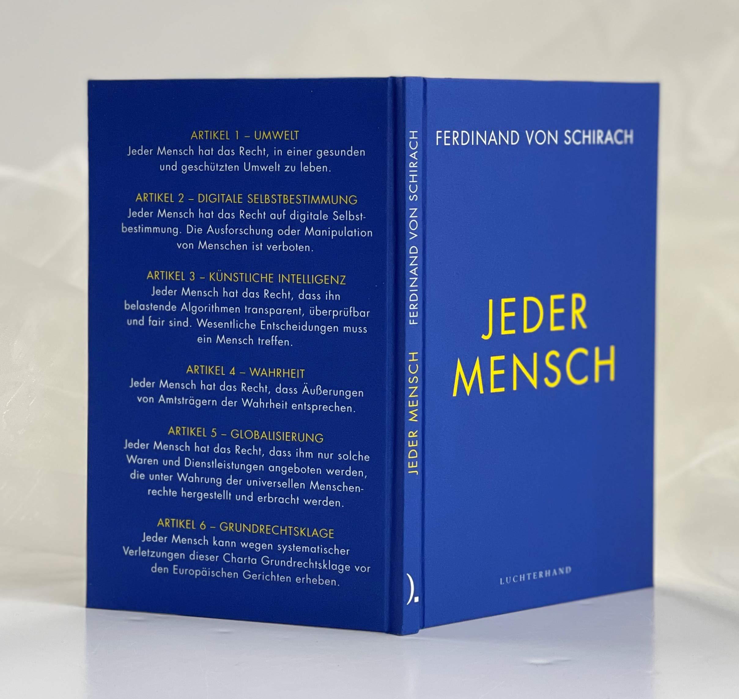 Jeder Mensch Schirach Ferdinand Von Bücher