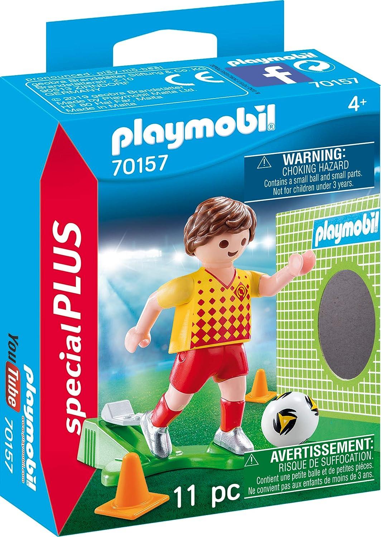 Playmobil 70157 Special Plus Jugadores de Fútbol con Puerta Pared, Multicolor: Amazon.es: Juguetes y juegos