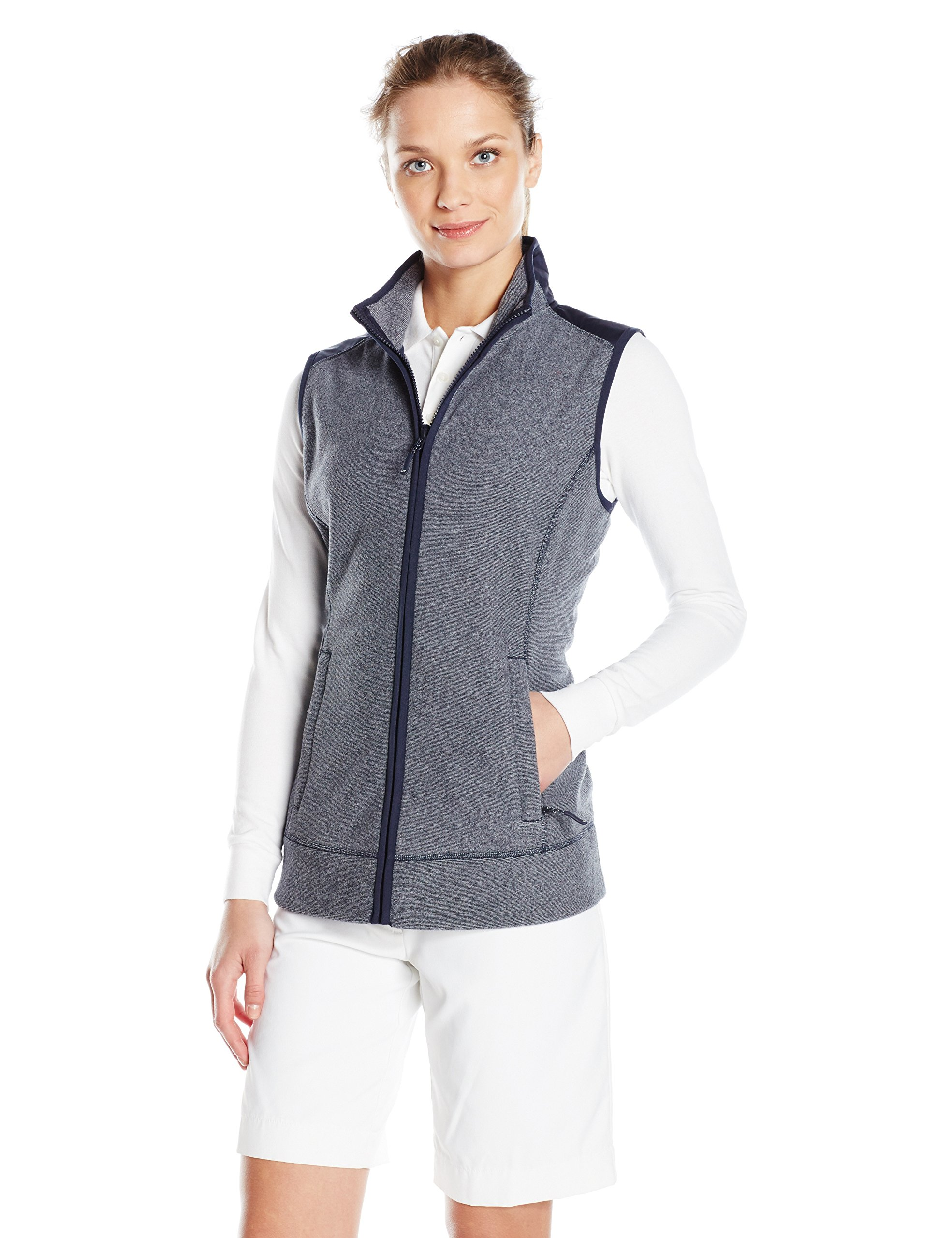 Cutter & Buck Women's Cb Weathertec Cedar Park Vest, Liberty Navy Heather, XXXL by Cutter