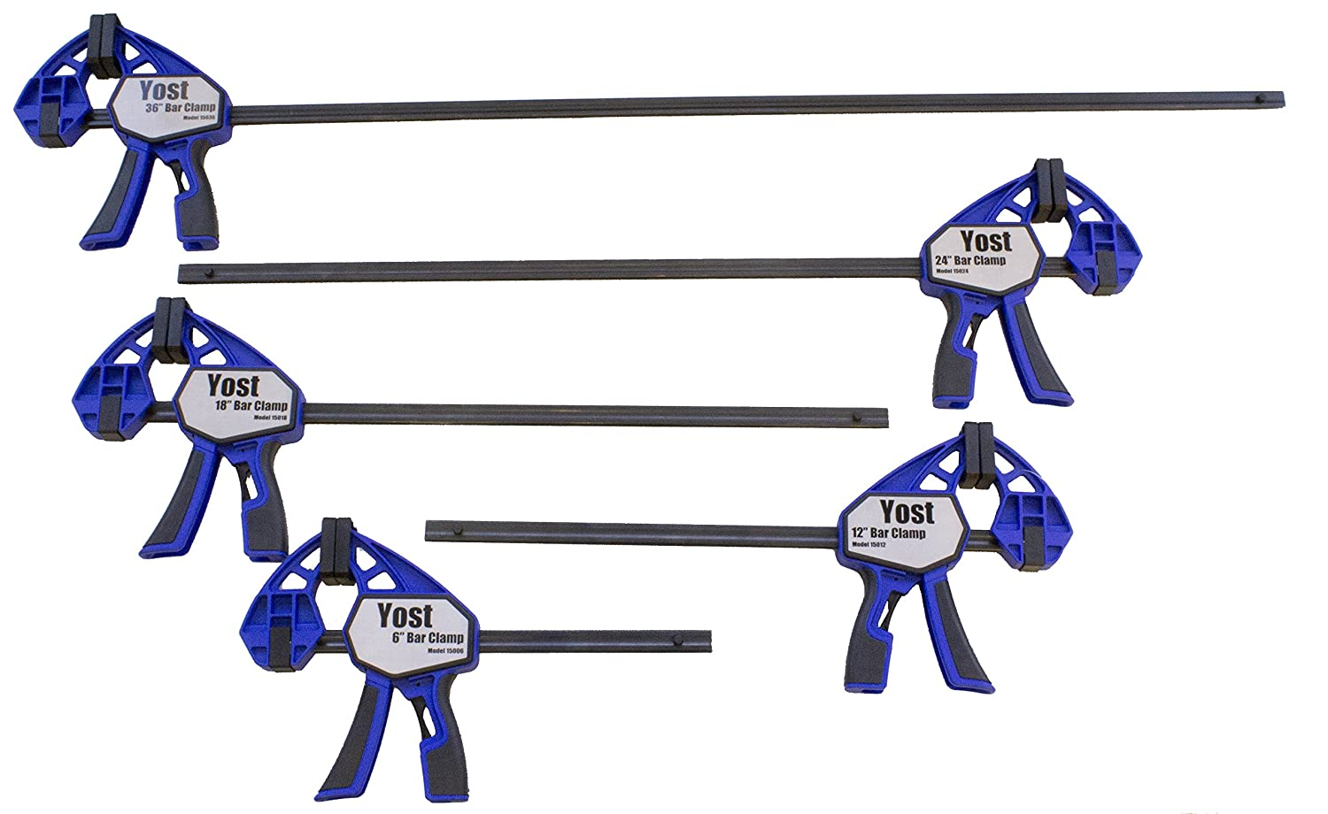 Yost Tools 15000-10 Yost 15000 Series bar Clamp Set Pack of 10