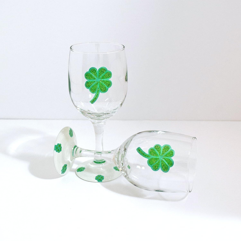 b17369c97b1 Amazon.com  Shamrock Wine Glasses