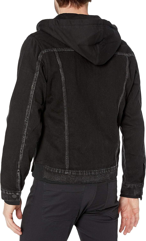 [BLANKNYC] mens Denim Jacket With Hood at  Men's Clothing store