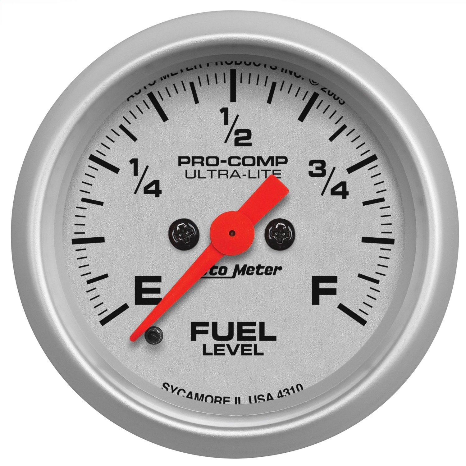 Auto Meter 4310 Ultra-Lite Electric Programmable Fuel Level Gauge by Auto Meter