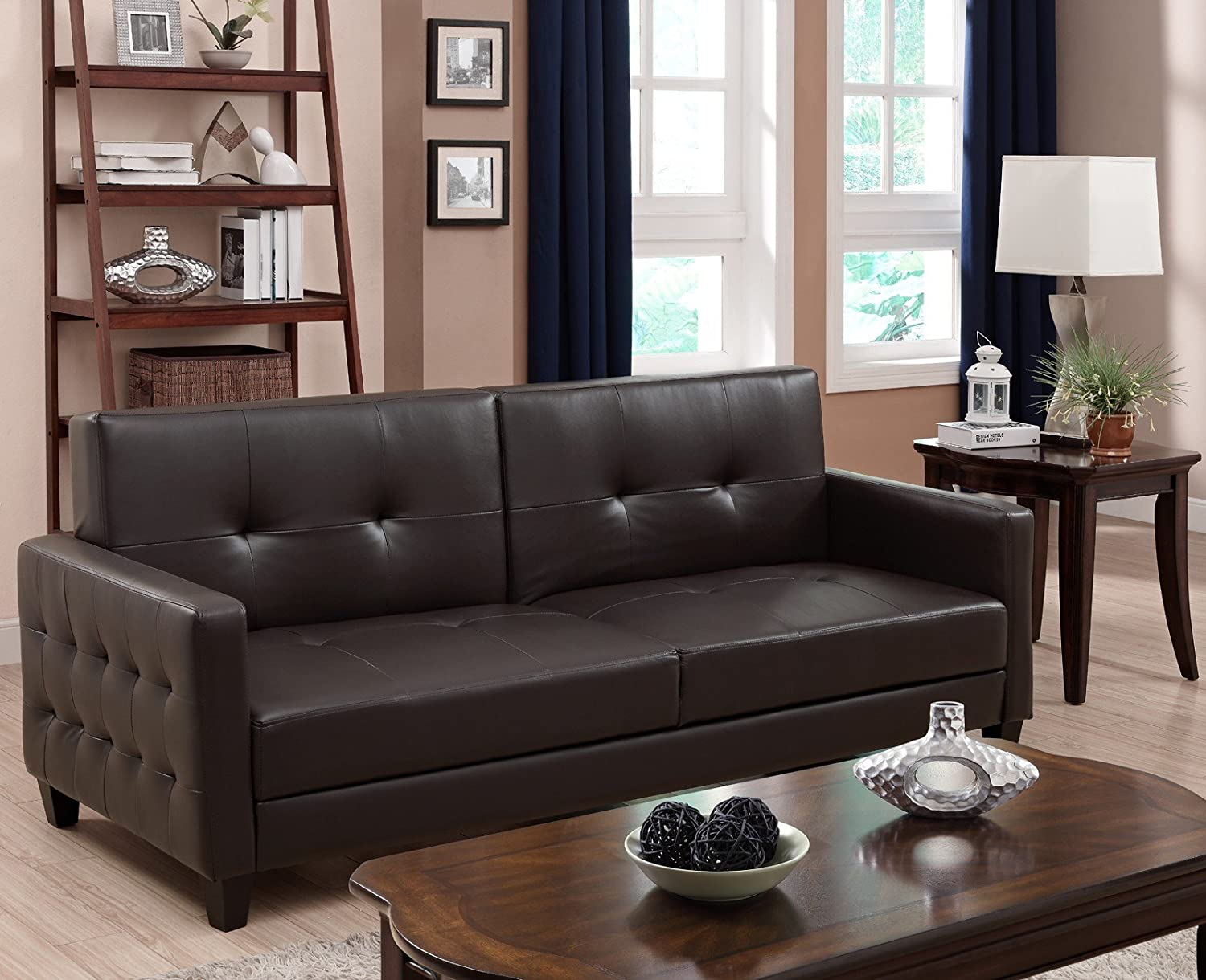 Amazoncom DHP Rome Futon Brown Kitchen Dining