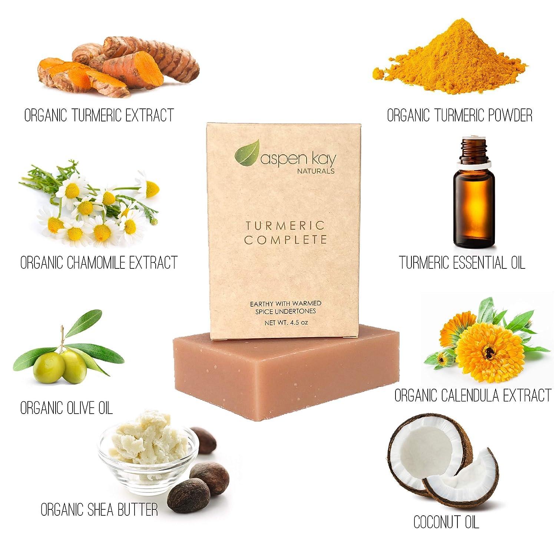 Jabón de cúrcuma orgánica, 100% natural