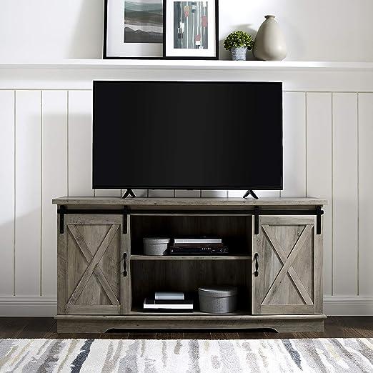 Home Accent Furnishings - Soporte de televisión para Puerta corredera (58 Pulgadas), Color Gris: Amazon.es: Juguetes y juegos