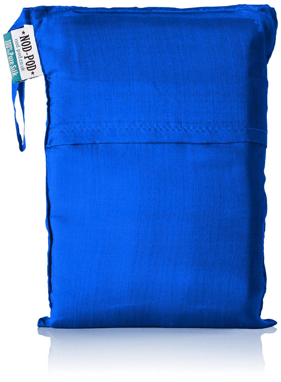 Nod-Pod Saco de dormir de seda 100% de seda natural - Sábanas para sacos de dormir - Azul: Amazon.es: Deportes y aire libre