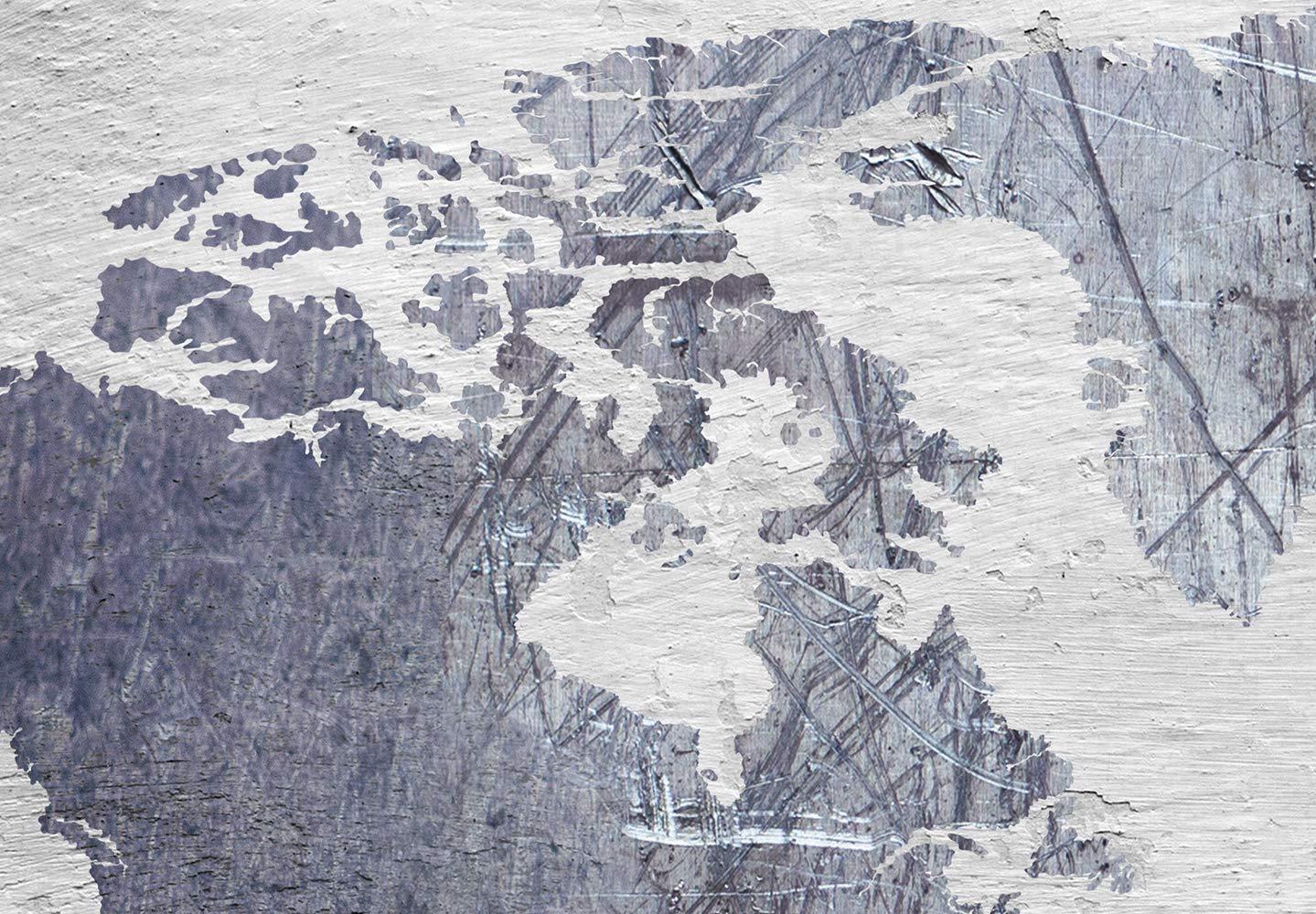 murando Mega XXXL Mappa del Mondo Quadro 160x80 cm Uno Speciale Quadro su Tela nel Formato XXL Foto gande su Tela Stampo Artistico Calcestruzzo k-C-0087-ak-e