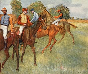 by Edgard Degas Collection of 6 Different Unused Horse Racing Art Postcards