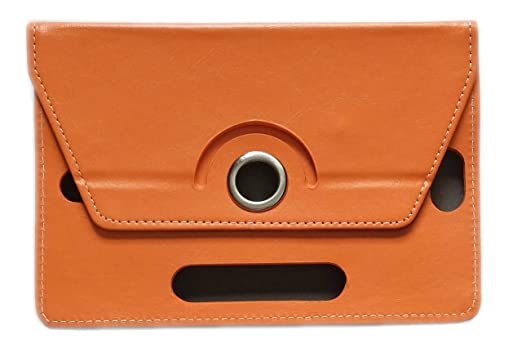 KANICT Rotating Tablet Leather Flip Case Cover Compatible for Samsung Galaxy Tab 2 7.0 P3100  Orange