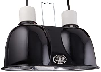 dome lighting fixtures. Zoo Med Labs Mini Combo Deep Dome Dual Lamp Fixture,Black Lighting Fixtures