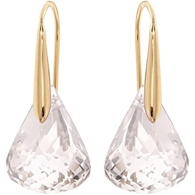 05041ccfb Swarovski Lunar Pierced Earrings, White, Rose gold plating: Amazon.co.uk:  Jewellery