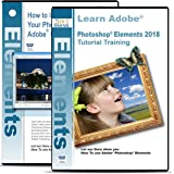Adobe Photoshop Elements 2018 Training on 3 DVDs Plus Improve Your Photographs on 2 DVDs Disc Bundle, Over 24 Hours in 314 Video Tutorial Lessons