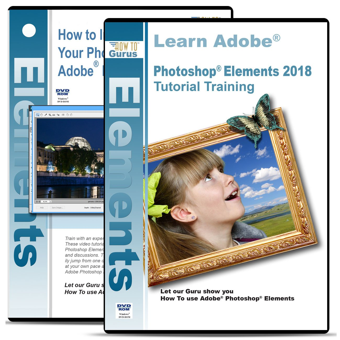 Amazon how to gurus adobe photoshop elements 2018 training on 3 dvds plus improve your photographs on 2 dvds disc baditri Images