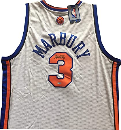 new arrival 497b2 68b35 Stephon Marbury Autographed Signed Reebok Authentic Knicks ...