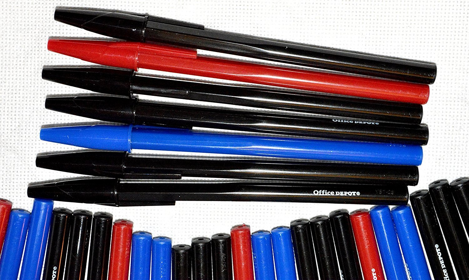120 count Office Depot Ballpoint Pen Red, Blue, Black