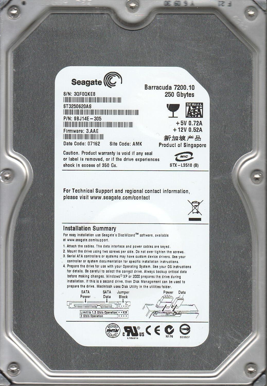PN 9BJ14E-305 3QF Seagate 250GB SATA 3.5 Hard Drive FW 3.AAE ST3250620AS AMK