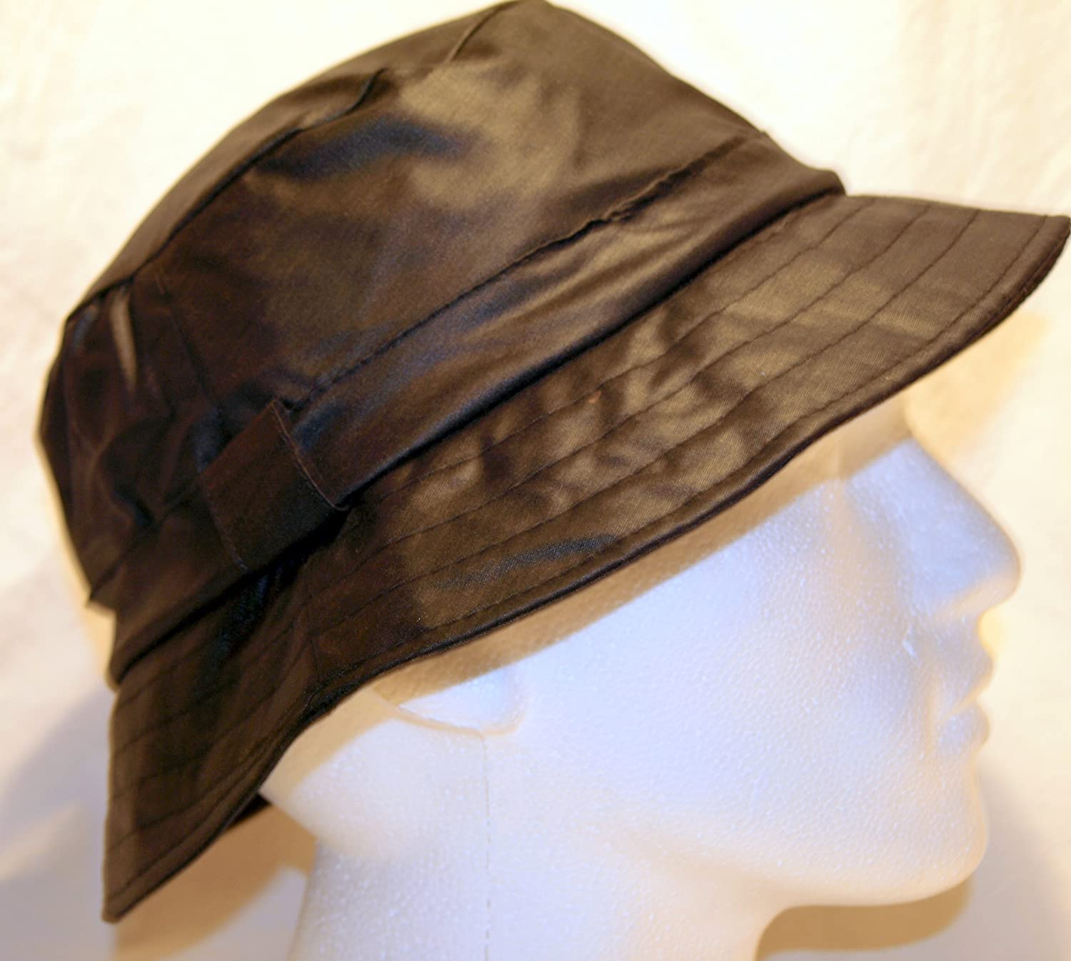 Brand New Black Wax Waterproof Bucket Hat 60cm XLarge EmmaxGroup