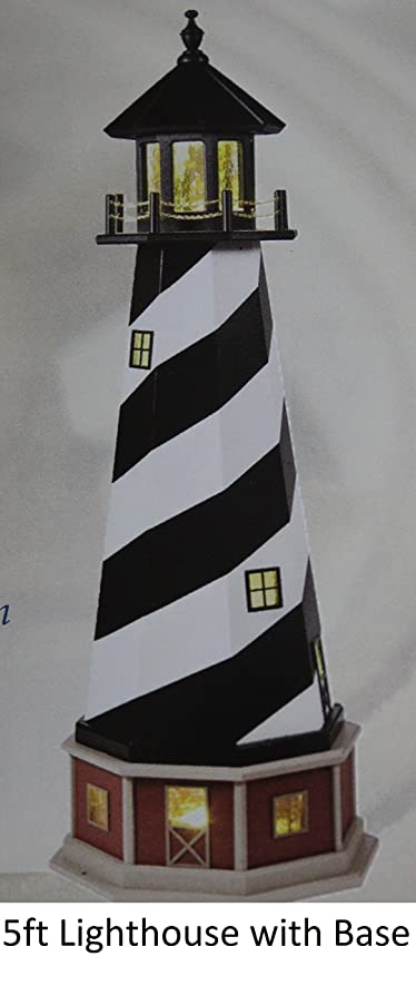 amish made hybrid wood and poly lighthouse with base cape hatteras - Amish Lighthouse Plans