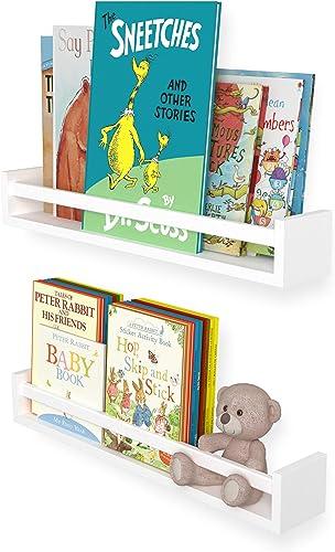 Wallniture Utah 24 White Bookshelf