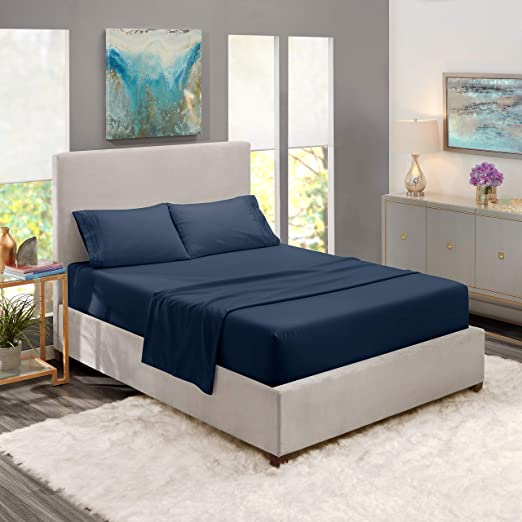 Amazon Com Nestl Deep Pocket King Sheets 4 Piece King Size Bed
