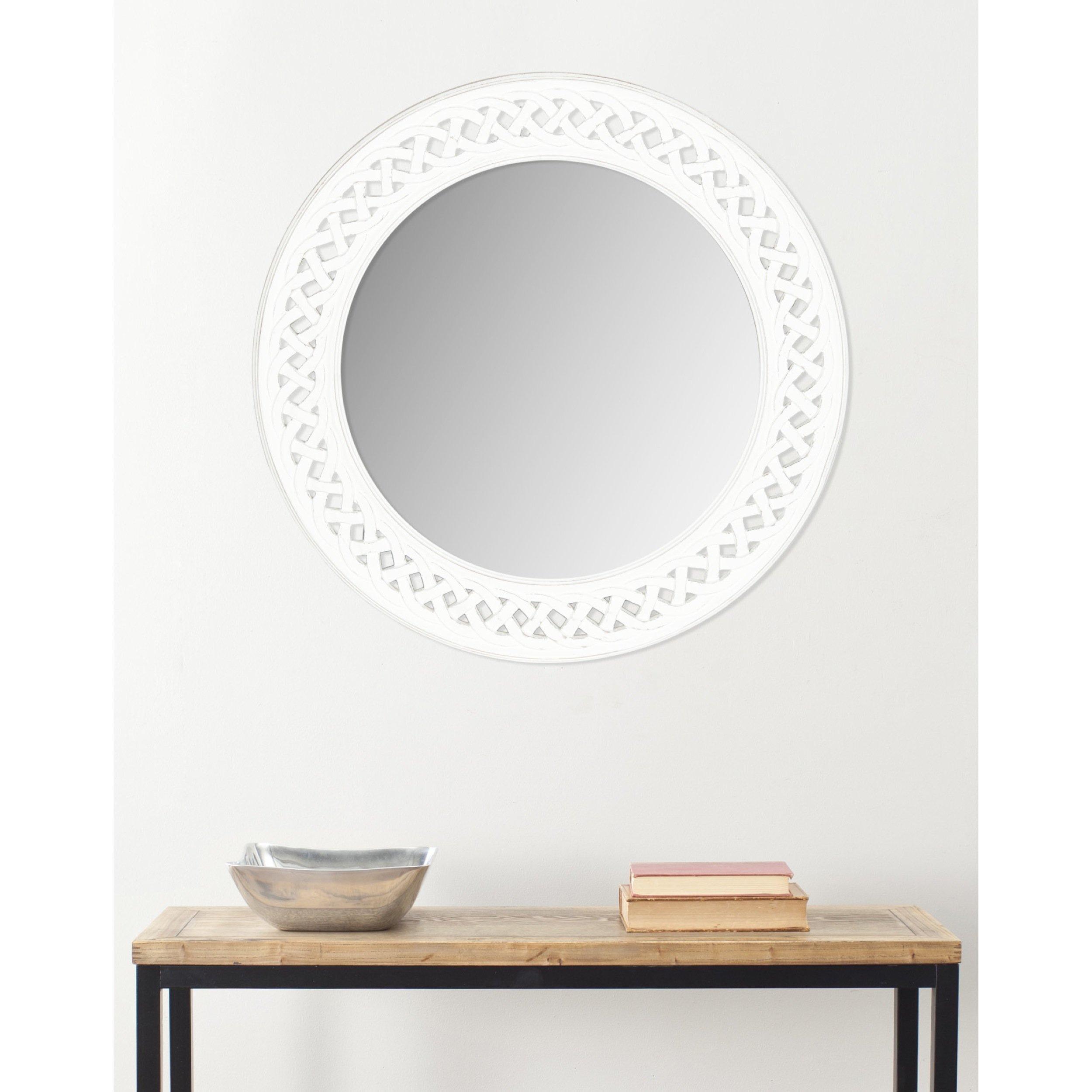 Safavieh Home Collection Braided Chain Mirror, White