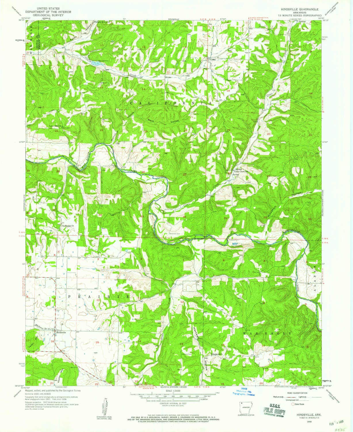 Ark Elevation Map.Amazon Com Yellowmaps Hindsville Ar Topo Map 1 24000 Scale 7 5 X