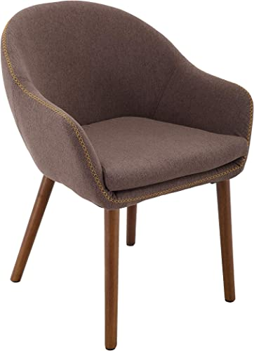 Brage Living Wood Leg Upholstered Padded Fabric Dining Chair