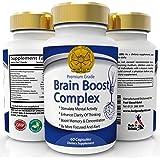 Premio Brain Boost - Nootrópicos Fuerza Maxima Complejo De Vitaminas Para Memoria, Foco, Concentración