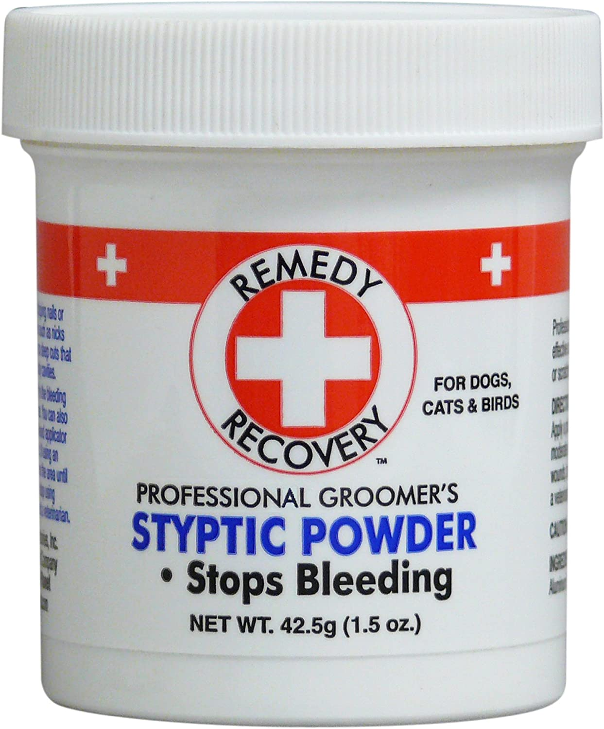 Amazon.com: DOGSWELL Remedy+Recovery Styptic Blood Stopper Powder for Dogs  & Cats 1.5 oz. Container: Pet Supplies