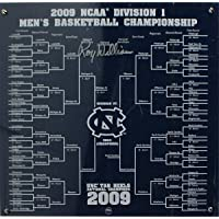 $157 » Roy Williams North Carolina Tar Heels Signed Final Four Floor Piece Featuring Commemorative 2009 NCAA Tournament Bracket - Steiner Sports…