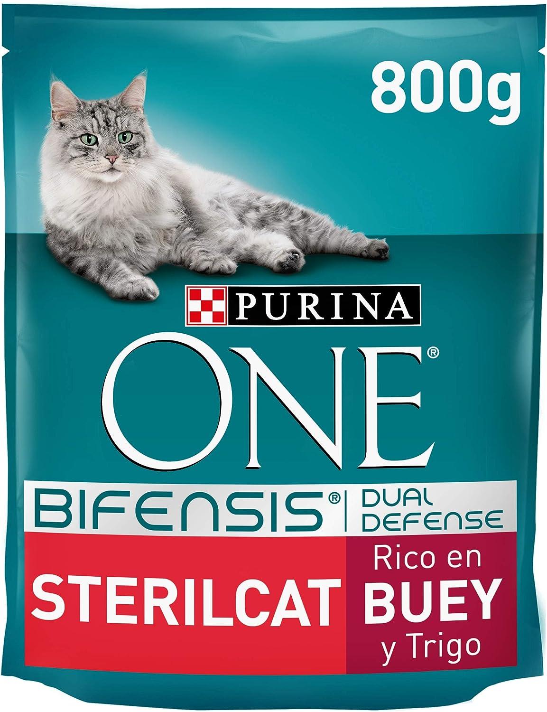 PURINA ONE Bifensis Pienso para Gatos Esterilizados Buey y Trigo 8 x 800 g