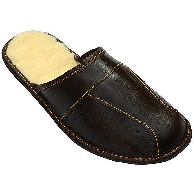 Bawal - Zapatillas de estar por casa de Lana para hombre Marrón marrón 40